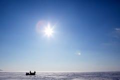 Paesaggio del ghiaccio di inverno Immagini Stock