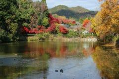 Paesaggio del Giappone Kyoto Arashiyama Fotografia Stock Libera da Diritti