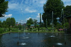 Paesaggio del giardino di Shalimar Fotografia Stock