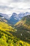 Paesaggio del Glacier National Park alla caduta Immagini Stock Libere da Diritti