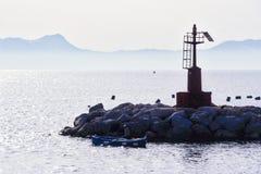 Paesaggio del golfo di Napoli Fotografie Stock