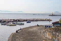 Paesaggio del golfo di Napoli Fotografie Stock Libere da Diritti