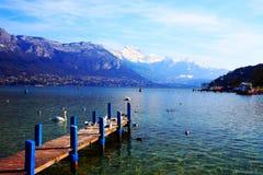 Paesaggio del lago Immagine Stock