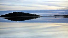Paesaggio del lago Alqueva. Fotografia Stock