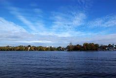 Paesaggio del lago Alster Fotografie Stock Libere da Diritti
