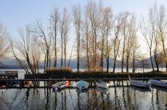 Paesaggio del lago annecy in Francia Fotografia Stock