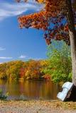 Paesaggio del lago autumn Fotografia Stock