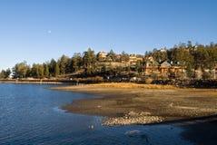 Paesaggio del lago big Bear Fotografia Stock