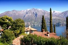 Paesaggio del lago Como Fotografia Stock Libera da Diritti