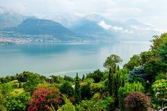 Paesaggio del lago Como, Laghetto di Piona in Italia, alpi, Europa Fotografia Stock Libera da Diritti