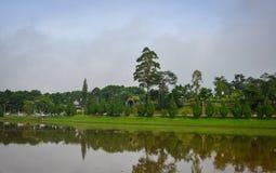 Paesaggio del lago in Dalat, Vietnam Immagini Stock Libere da Diritti