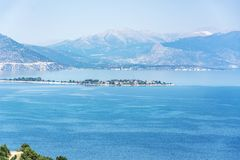 Paesaggio del lago Egirdir Isparta/Turchia Immagine Stock