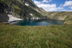 Paesaggio del lago eye, i sette laghi Rila, Bulgaria Fotografia Stock Libera da Diritti