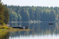 Paesaggio del lago finland Fotografia Stock Libera da Diritti