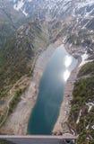 Paesaggio del lago Fregabolgia e della diga, un lago artificiale alpino Alpi italiane L'Italia Immagine Stock Libera da Diritti