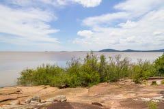 Paesaggio del lago Guaiba Fotografie Stock