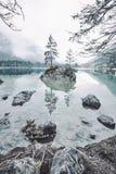 Paesaggio del lago Hintersee Fotografia Stock