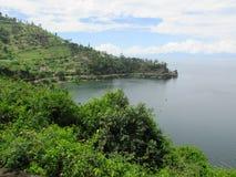 Paesaggio del lago Kivu Fotografie Stock