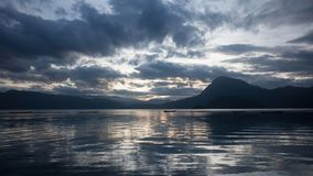 Paesaggio del lago Lugu Immagini Stock Libere da Diritti