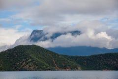 Paesaggio del lago Lugu Immagine Stock Libera da Diritti