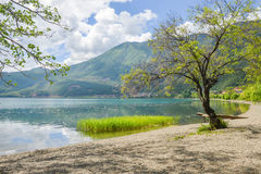 Paesaggio del lago Lugu, Lijiang, Cina immagine stock libera da diritti