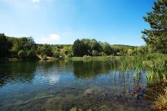 Paesaggio del lago mountain Immagine Stock Libera da Diritti