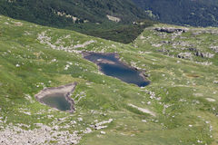 Paesaggio del lago mountain Appennini toscano, Italia Fotografie Stock