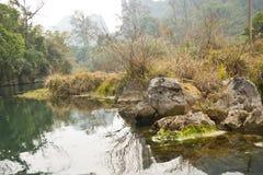 Paesaggio del lago pacifico nell'inverno Fotografia Stock