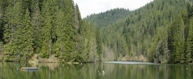 Paesaggio del lago rosso Romania Immagine Stock Libera da Diritti