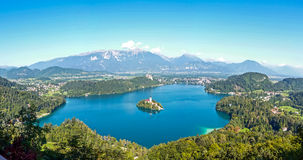 Paesaggio del lago sanguinato Fotografia Stock Libera da Diritti