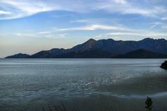 Paesaggio del lago Skadar nel Montenegro fotografia stock libera da diritti