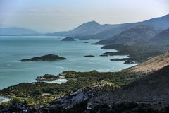 Paesaggio del lago Skadar nel Montenegro immagine stock libera da diritti