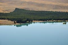 Paesaggio del lago Tekapo in NZ Fotografie Stock