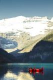Paesaggio del Lake Louise Fotografia Stock Libera da Diritti