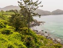 Paesaggio del litorale dell'oceano Immagini Stock Libere da Diritti