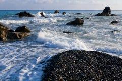 Paesaggio del litorale di mare Immagini Stock Libere da Diritti