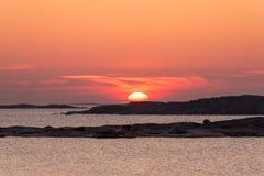 Paesaggio del Mar Baltico Fotografia Stock