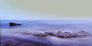 Paesaggio del mare al tramonto immagini stock libere da diritti