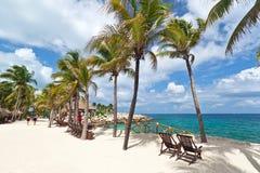Paesaggio del mare caraibico Fotografie Stock Libere da Diritti