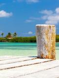 Paesaggio del mare caraibico Immagini Stock