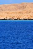 Paesaggio del mare con sbarco. Fotografia Stock
