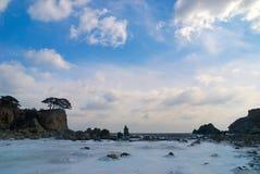 Paesaggio del mare dell'Estremo Oriente. Immagine Stock