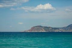 Paesaggio del mare della baia di Alanya immagini stock