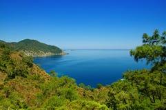 Paesaggio del mare della Turchia Fotografie Stock