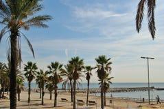 Paesaggio del mare di Barcellona Fotografia Stock Libera da Diritti
