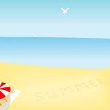 Paesaggio del mare di estate Royalty Illustrazione gratis