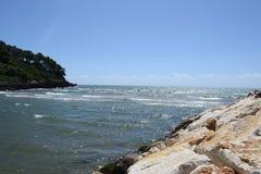 paesaggio del mare di Formia Fotografia Stock Libera da Diritti