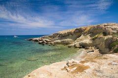 Paesaggio del mare La Grecia, Crete Fotografie Stock Libere da Diritti