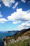 Paesaggio del mare, vista dalla collina Fotografie Stock Libere da Diritti