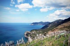 Paesaggio del mare, vista dalla collina Immagine Stock
